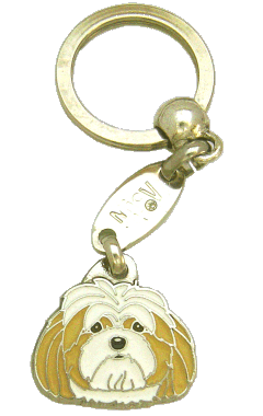 LHASA APSO WHITE AND CREAM - pet ID tag, dog ID tags, pet tags, personalized pet tags MjavHov - engraved pet tags online